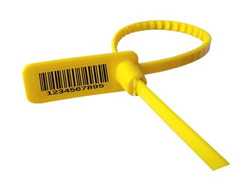 Raibex Plastic Security Seals 100 PCS One Time Lock OTL Small Size (YELLOW) Price & Reviews