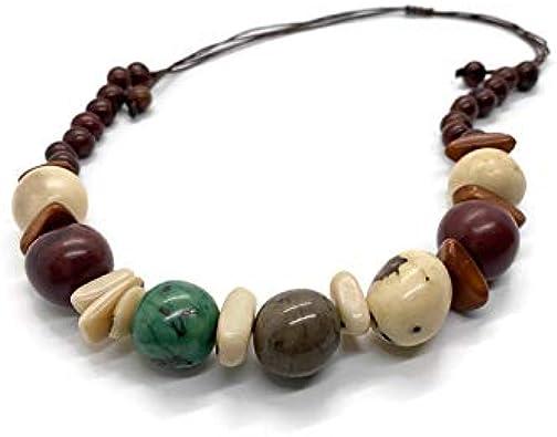 Peruvian handmade set. organic New Eco-friendly bio-degradable Chifle Organic Tagua Nut  Necklace and Earrings Set