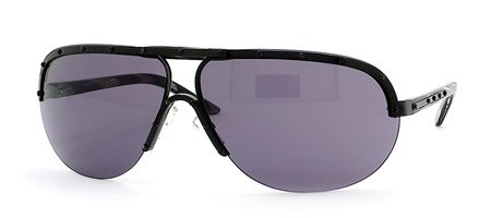 Valentino Metal Sunglasses (Valentino 1188 S sunglasses Shiny Black with Smoke Lens)