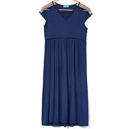 d6f3b31e74181 BYTWO Pregnant Nursing Dress Maxi Plus Size Fashion Hollow Breastfeeding  Suits Slim Short Party Gown for Women at Amazon Women's Clothing store: