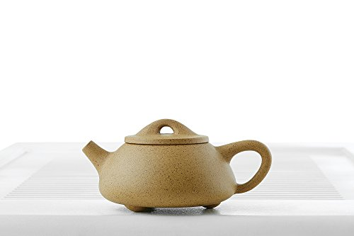 Yixing Clay Teapot with Long Spout Ceramic Kettle Tea Pot Chinese Teaware Pottery (mustard)