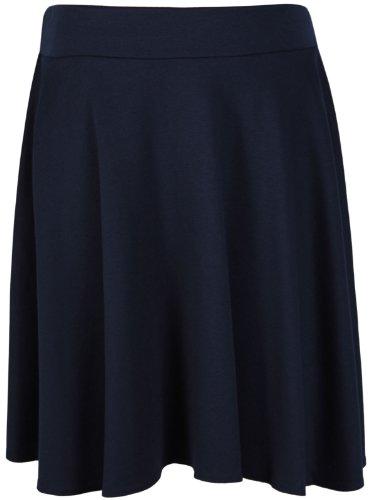 de Grande Mi Hanger Doux Taille Hauteur Femme Elastique Evas Longue Trapze Bleu Ceinture Uni Marine Purple Bande Patineuse Genou Extensible Jupe qFndOSOwt