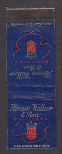 (Hiram Walker & Sons Distillers matchcover)