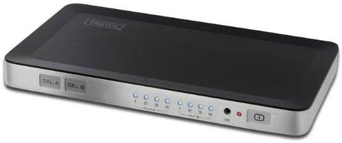 DIGITUS HDMI Video Matrix Splitter / Switch 4x2, 4-Port Eingang / 2-Port Ausgang, Unterstützt 1080i und 1080p Auflösung, 3D, HDCP, DTS, Dolby Digital