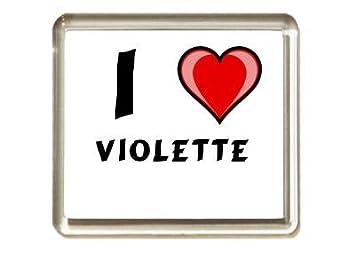I Love Violette Aimant De Réfrigérateur Prénomnomsurnom Amazon