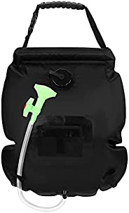 Outdoor Solar Shower Bag 20L/5 Gallons Portable Camp Shower Bag with Removable Shower Head and Hose for Campin