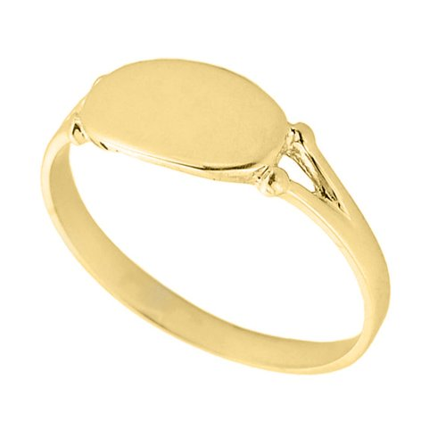 Women's 14k Yellow Gold Signet Ring (Size 6.75) 14k Yellow Gold Ladies Ring