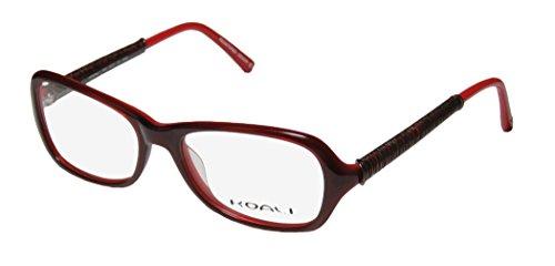 Koali 7068k Womens/Ladies Designer Full-rim Eyeglasses/Eyeglass Frame (52-17-135, Burgundy / Red / - Frames Latest Designer Eyeglass