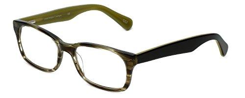Cinzia Designer Reading Glasses Mod Cons C1 in Oliver Striped - Glasses Con