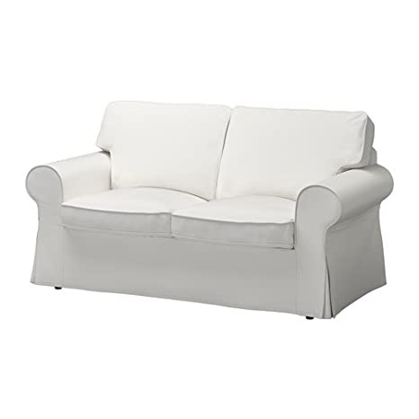 Amazon.com: IKEA EKTORP Loveseat Slipcover, Vittaryd White ...