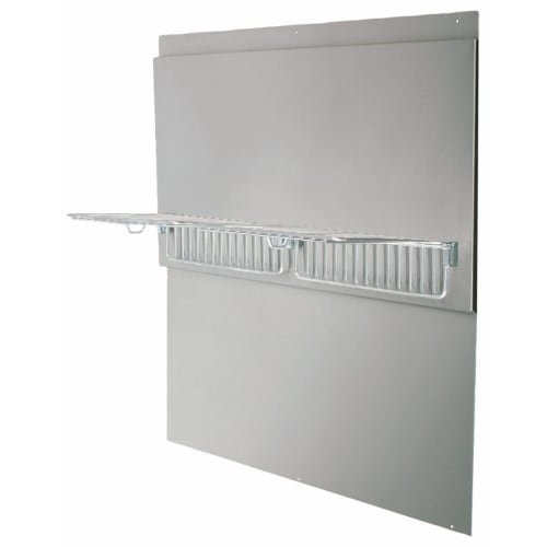 Air King BS42W Professional Series Back Splash w/ Shelves, 42-Inch Wide - Stainless Steel