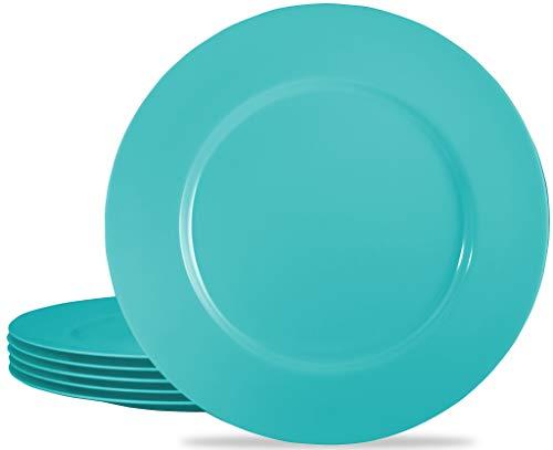 Calypso Basics by Reston Lloyd Melamine Salad Plate (Set of 6), Turquoise