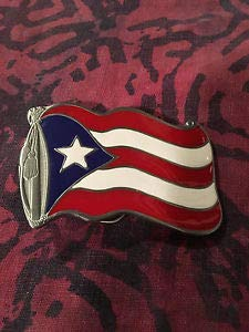 Puerto RICO Flag Belt Buckle New by Luxmart