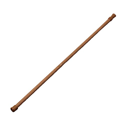 (BlueDragon10 Wood Curtain Rod Spring Loaded Extendable Telescopic Net Voile Tension Curtain Rail Pole Rod Rods Wood Color 60-110cm)