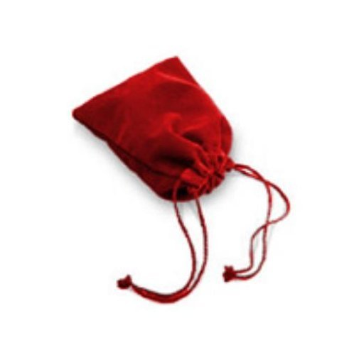 Chessex Manufacturing 2394 Large Suedecloth Dice Bag Red by Dice Bags Chessex