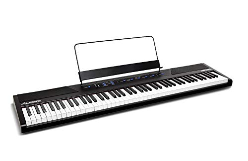 Alesis Recital | 88-Key Beginner Digital Piano with Full-Size Semi-Weighted Keys, Power Supply, Built-In Speakers...