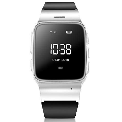 WiFi Smart Watch for Elderly Women Men Specific Design Multifunctional GPS Tracker LBS Precise Positioning Anti-Lost SOS Activity Tracker Sport Smart Watch Perdometer for Android iPhones (Silver) (Watch Phone Cell Verizon)