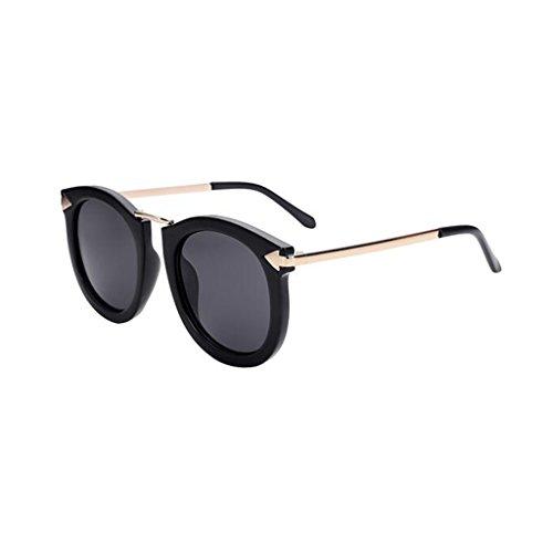 estrella sol sol libre Rosa Protección Mujeres gafas Gafas Excursionista Regalo de Me UV Frame Vintage conducción Ocio Protección Black de aire polarizadas Personalidad al de solar protección UV400 Negro Gray de Nueva PT8Eq