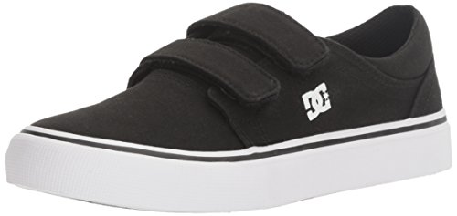 DC Boys' Trase V Sneaker, Black/White, 11 M US Little Kid