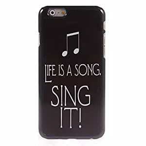 SHOUJIKE Sing It Design Aluminum Hard Case for iPhone 6