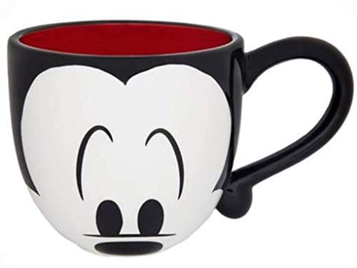 Disney Parks Cute Mickey Mouse Face Signature Large 20 oz Ce