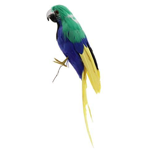 perfk 30cm リアル オウム 鳥モデル 動物模型 屋内/屋外装飾 庭飾り 撮影飾り 全12色 - #12の商品画像
