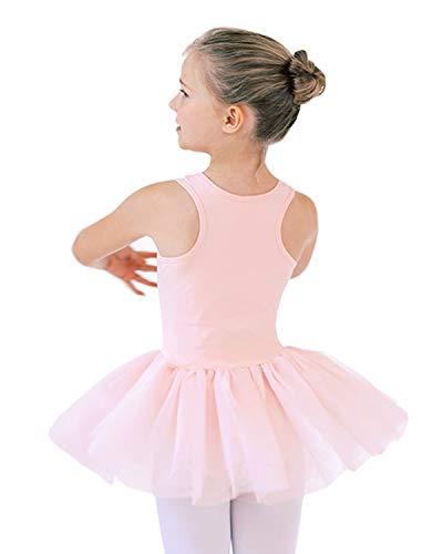 STELLE Ballet Leotard Tutu Dress for Girls Toddler Dance Skirt (Ballet Pink, 90)