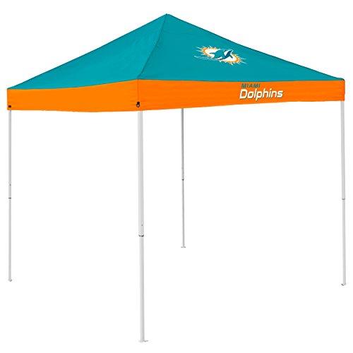 Logo Brands NFL Miami Dolphins Economy Tent Economy Tent, Aqua, One Size -