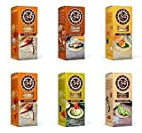 34 Degrees Cracker Variety Pack - 6 Assorted 4.5 Ounce Boxes - 2 Natural, 1 Sesame, 1 Cracked Pepper, 1 Whole Grain, & 1 Rosemary