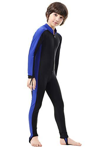 Labelar Kids Sunsuit Long Sleeve Swimwear One-Piece Bodysuit Swimsuit