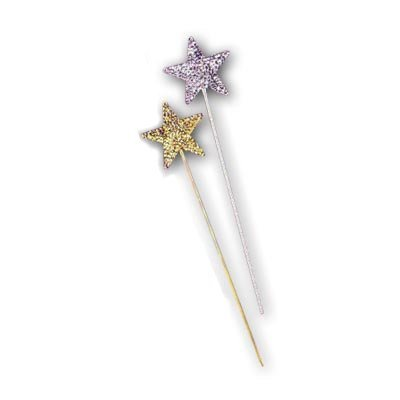 [Sequin Star Wand (Gold;One Size)] (Wtf Group Costumes)
