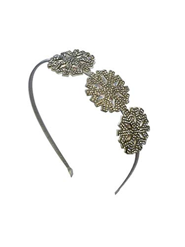 Bari Lynn Crystal Snowflake Headband In Silver ()