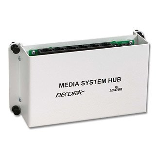 Leviton 48210-MCH Decora Media System Media Hub with Power Supply, for Multi-Room Video, Fits in Structured Media Center Enclosures, White (Leviton Decora Media System)