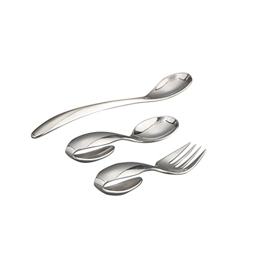 Nambe Baby Feeding Set - Loop Spoon, Loop Fork, and Feeding Spoon