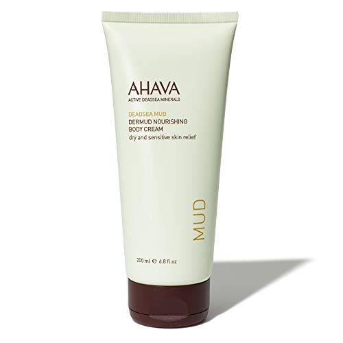 AHAVA Dermud Nourishing Body Cream made with Dead Sea Mud, 6.8 oz|200ml