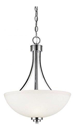 Matte Opal Glass Bowl - 443P-CH Chrome Ashton 3 Light 16