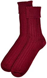 Mens Cashmere Sock in Claret Made In Scotland