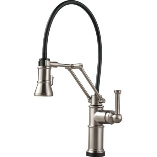 Brizo 64225LF Artesso Pull-Down Kitchen Faucet with Dual Jointed Articulating Ar, Brilliance - Brizo Fixture Light