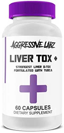 Aggressive Labz Liver Tox Plus, Natural Supplement for Healthy Liver Function, Cleanse and Optimize, Extreme Detox Formula with TUDCA and NAC, 60 Vegan Capsules