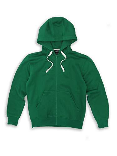 Tank Men's Lightweight Basic Zip Down Fleece Hoodie Jacket-14 Variety of Colors, Size S to 6XL Kelly Green - Kelly Fleece Jacket