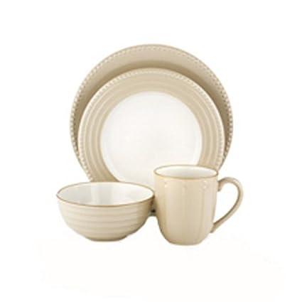 Dansk Reactic Khaki 16-Piece Earthenware Dinnerware Set Service for 4  sc 1 st  Amazon.com & Amazon.com: Dansk Reactic Khaki 16-Piece Earthenware Dinnerware Set ...