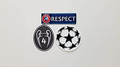 Ajax UEFA Champion League Respect Sleeve Soccer Patch Badge 4 Honor HUNTELAAR Lang