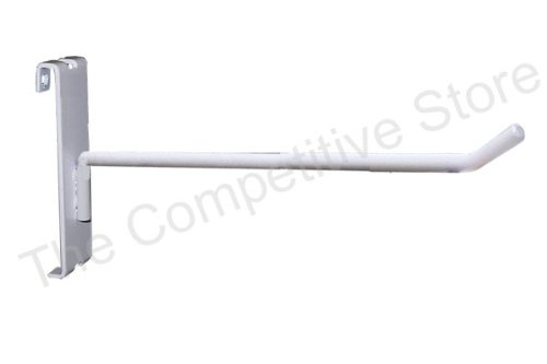 8'' Gridwall Hooks For Grid Panel Display - 50 Pcs Box - 1/4'' Dia Wire - Standard Duty - White Color by The Competitive Store