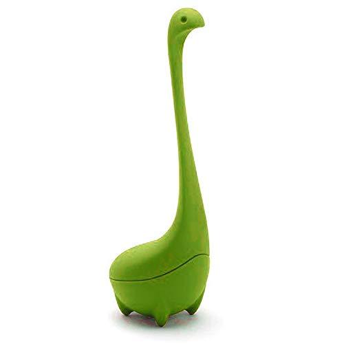 Verde CamKpell Filtro de Filtro de colador de Hojas de t/é Creative Cute Filtro de Filtro Reutilizable