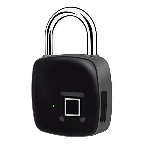 Baosity Fingerprint Padlock – Smart IP65 Waterproof Keyless Lock Gym, Locker, Door, Backpack, Luggage, Suitcase, Office, USB Charging