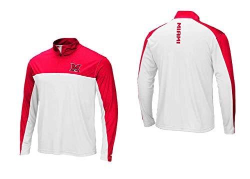 Miami Redhawks Adult Luge 1/4 Zip Windshirt - Team Color, Large