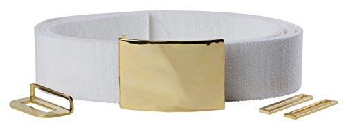 USMC non-NCO White Dress Belt & Buckle]()