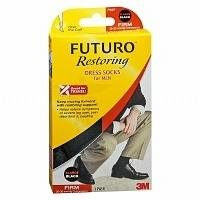 FUTURO Restoring Dress Socks for Men, Firm, Black, X-Large Pack of 2