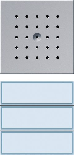 Gira 126165 T/ürstation 3-fach Farbe alu