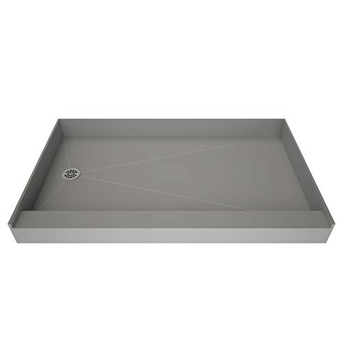 - Tile Redi 3760Lbo Shower Pan with Integrated Left Hand Side Pvc Drain, 37